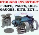 vacuum pumps stocked inventory of pumps, parts, oils, gauges, vacuum pump kits